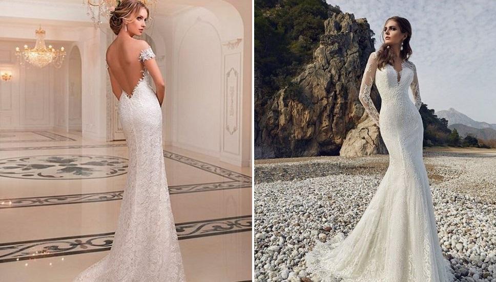 ... ako je šitie ručne robené kvetinovými motívmi alebo korzetu na širokom  hraničnom čipkou Chantilly zdobenie plnej sukne svadobné šaty od Yolan Cris. 8d382ee31c5